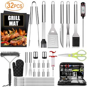 Taimasi 32PCS BBQ Grill Accessories Tools Set