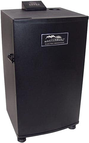 Outside design of Masterbuilt 30 inch electric smoker with top controller