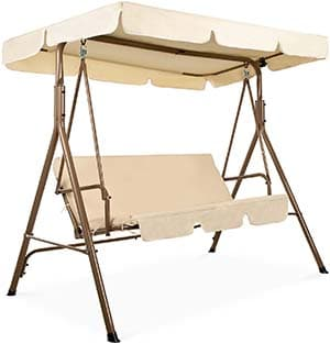 Best Choice Products 2-Person Outdoor Large Convertible Canopy with removable cushions