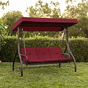 Best Choice Products 3-Seat Outdoor Swing with cushion