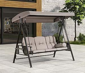 PURPLE LEAF 3-Seat Deluxe Outdoor Patio Porch