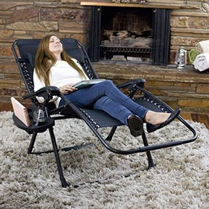 Oversized Zero Gravity Chair, Support 400lbs XL Wide Lounge Chair (4 inch Wider Than Standard Size)